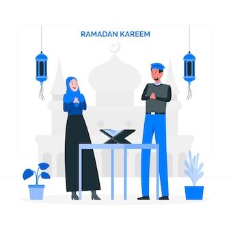 Illustrazione di concetto di ramadan kareem