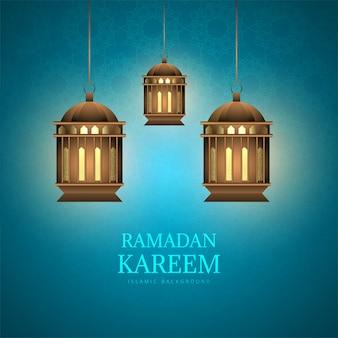 Рамадан карим декоративные арабские лампы фон