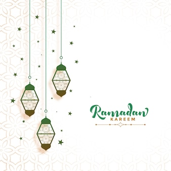 Ramadan kareem card design decorativo