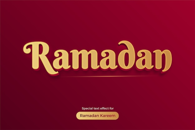 Рамадан карим эффект редактируемого стиля текста
