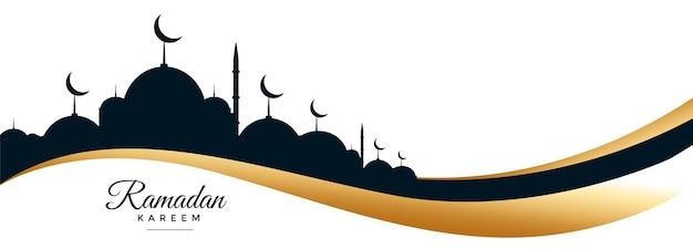 Ramadan kareem e banner del festival di eid
