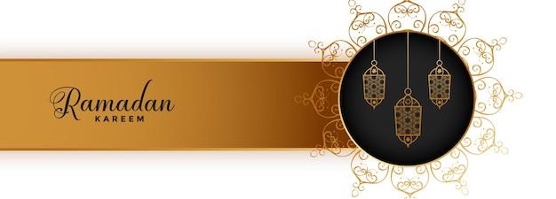 Ramadan kareem eid festival design banner islamico