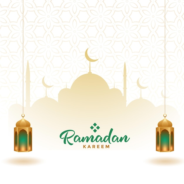 Ramadan kareem elegant decorative card design