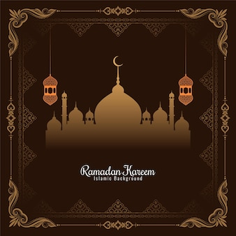 Ramadan kareem festival artistic frame design background vector