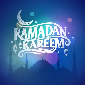 Ramadan kareem greeting beautiful lettering