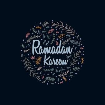 Ramadan kareem greeting card floral