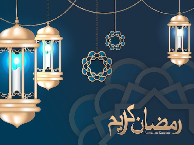 Ramadan kareem greeting card and islamic background
