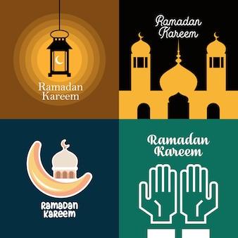 Ramadan kareem illustration poster design