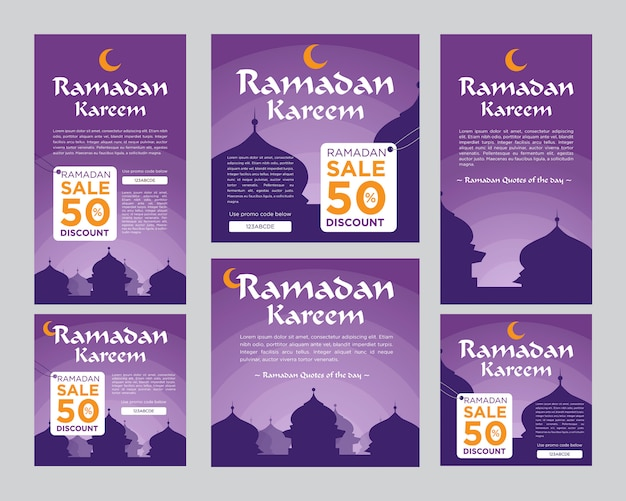 Ramadan kareem for instagram story and feed post template