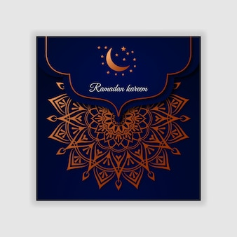 Ramadan kareem invitation cover or banner design template