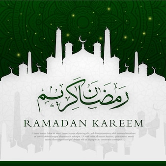 Ramadan kareem islamic background design premium
