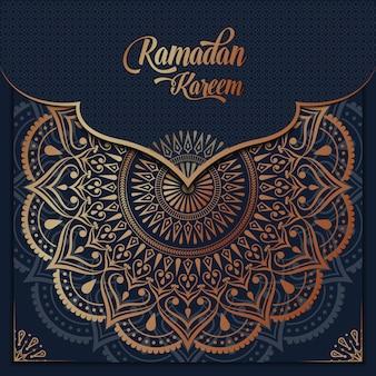 Ramadan kareem islamic background with mandala