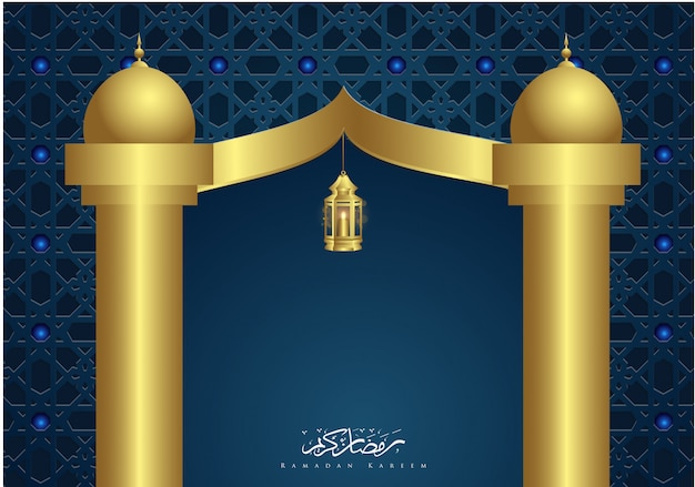 Ramadan kareem islamic door ornament background