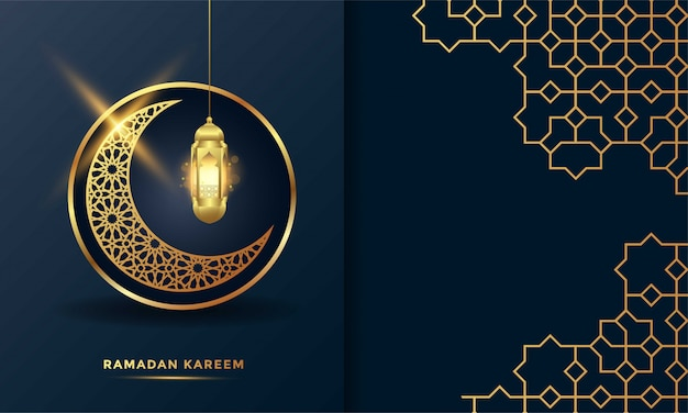 Ramadan kareem islamic greeting card background   illustration