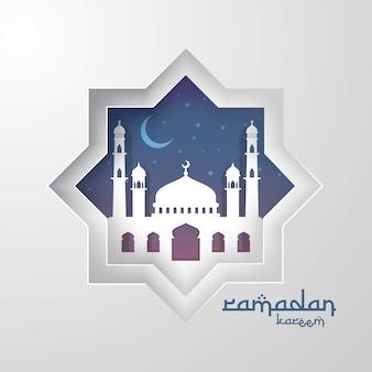 ラマダンカライムイスラム挨拶カードの3dデザイン