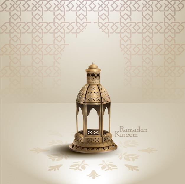 Ramadan kareem islamic greeting design background