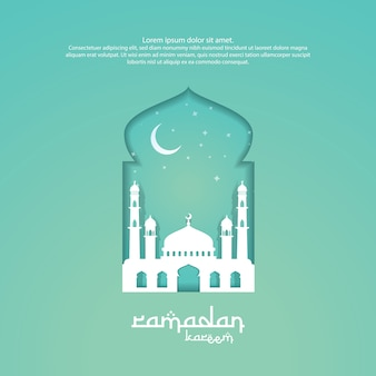 ラマダンカライムイスラム挨拶の3dデザイン
