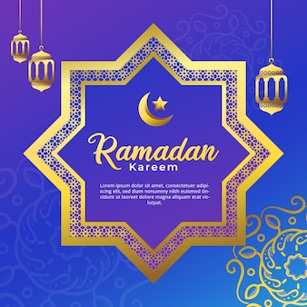 Ramadan kareem islamic with geometric mandala