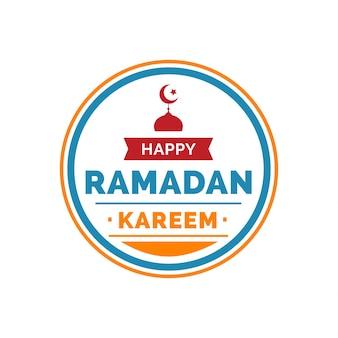 Ramadan kareem lettering in round frame