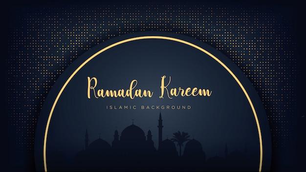 Ramadan kareem luxury background.