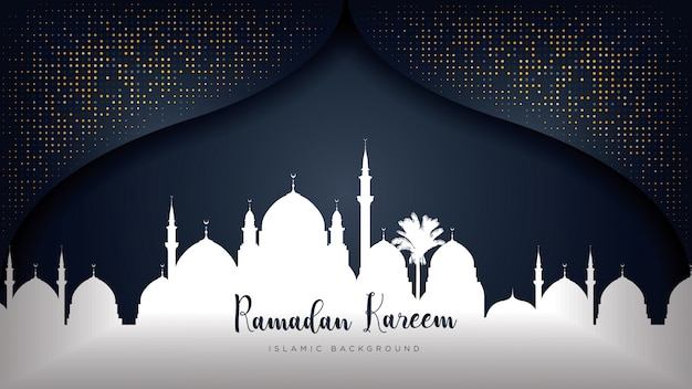 Ramadan kareem luxury background.