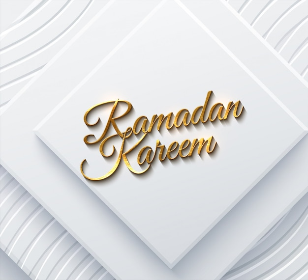 Ramadan kareem. modern cover design.   illustration. islamic holiday. muslim month ramadan poster template. white banner with geometric square shapes, golden beads and traditional girih