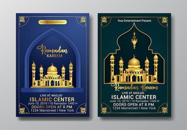 Ramadan kareem modern flyer template