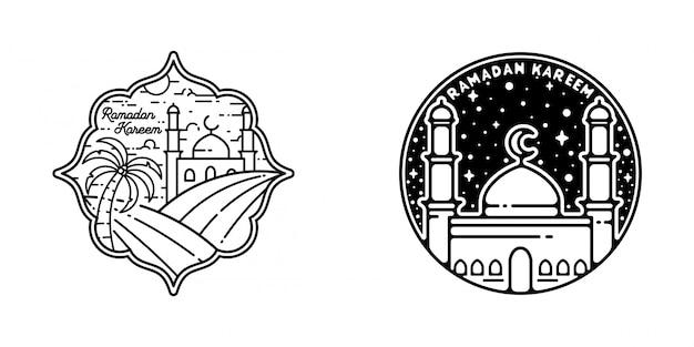 Рамадан карим монолайн дизайн