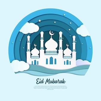 Рамадан карим бумажное искусство иллюстрации
