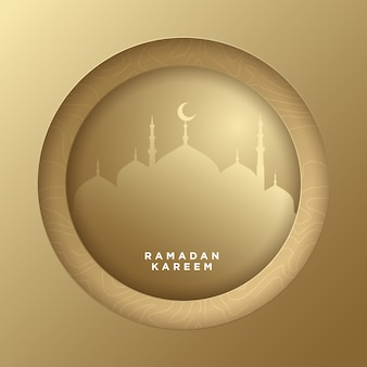 Ramadan kareem paper art islamic background