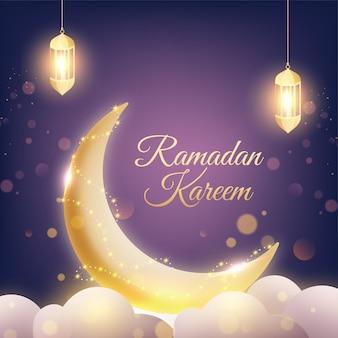 Ramadan kareem or ramazan kareem concept
