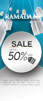Ramadan kareem roll-up sale template