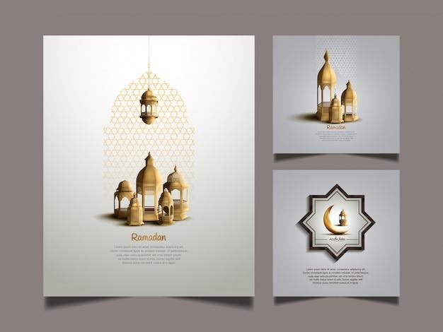 Ramadan kareem set designs for holy ramadan celebration