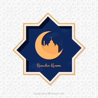Ramadan kareem star background