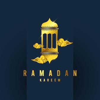 Ramadan kareem  template. illustration full color.