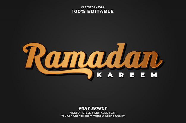 Ramadan kareem text effect- Premium Vector