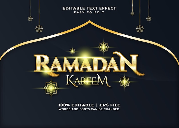Ramadan kareem text effect