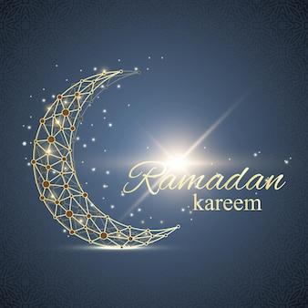 Рамадан карим текст приветствия фоновой иллюстрации
