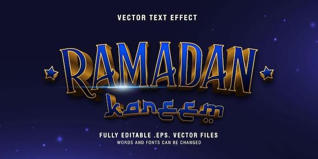 Ramadan kareem text style effect fully editable