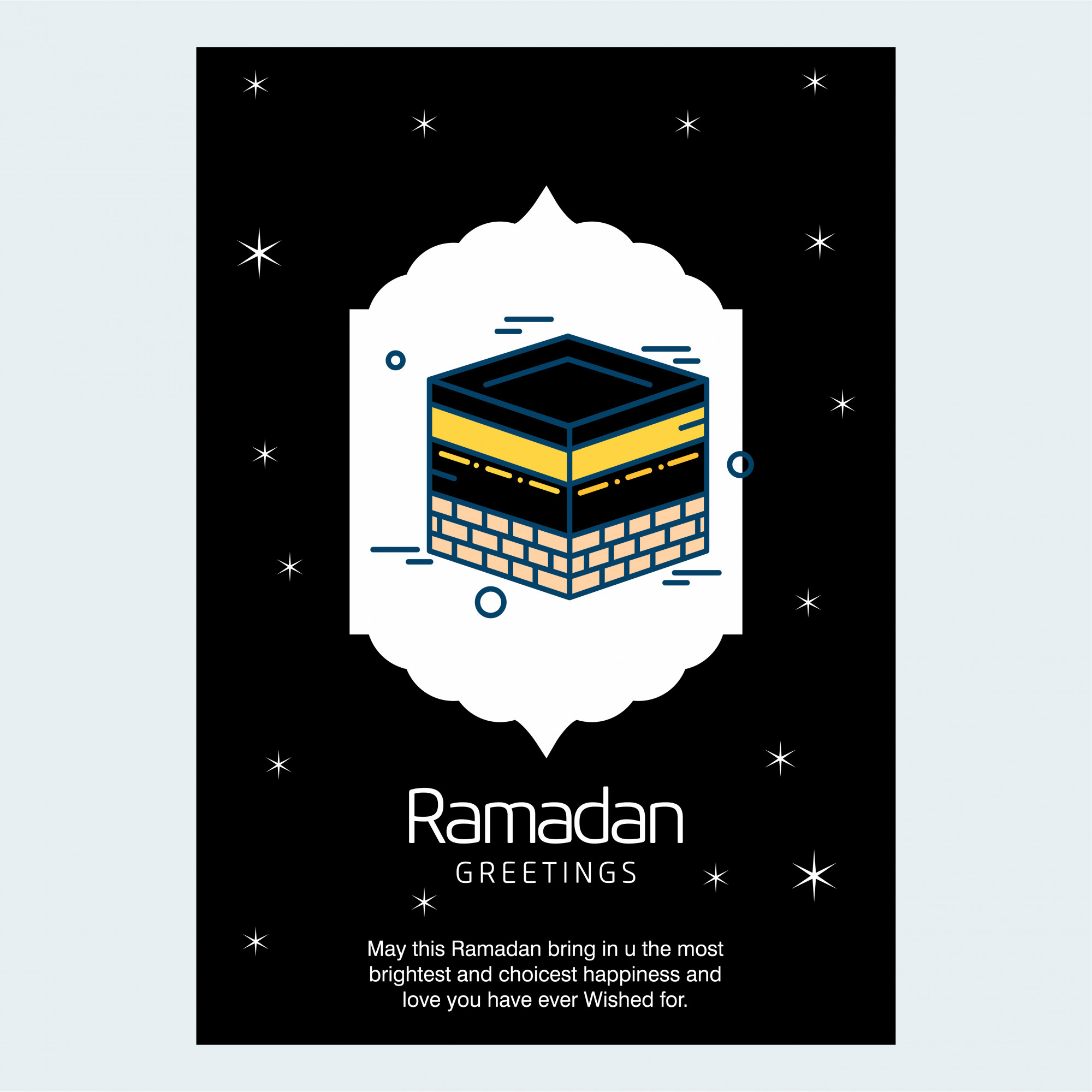 Ramadan Kareem typogrpahic and creative design vector