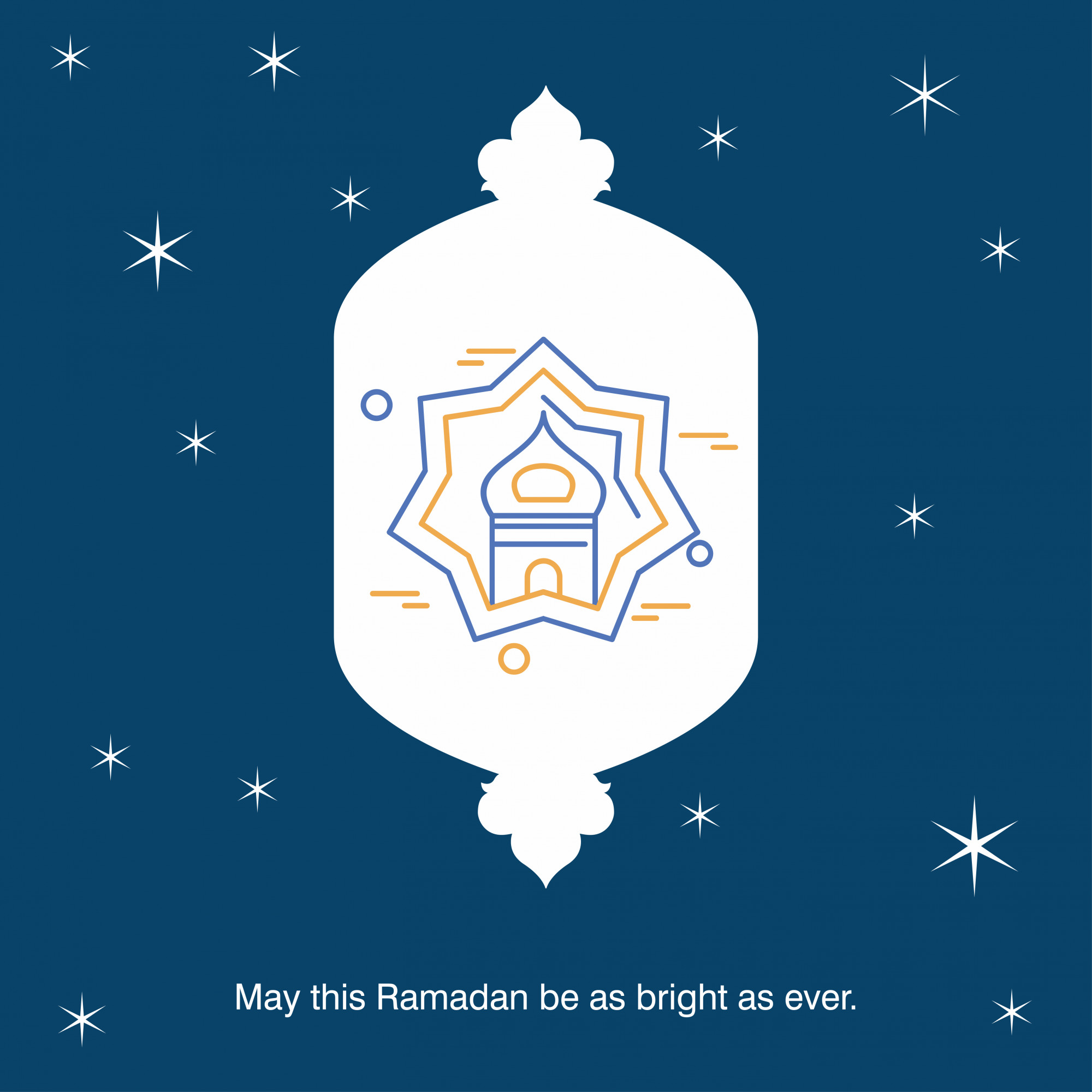 Ramadan Kareem Vector Greeting Card Background