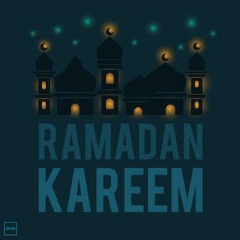 Ramadan kareem with islamic illustration image