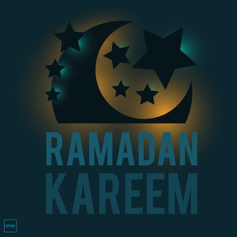 Ramadan kareem with islamic illustration image.