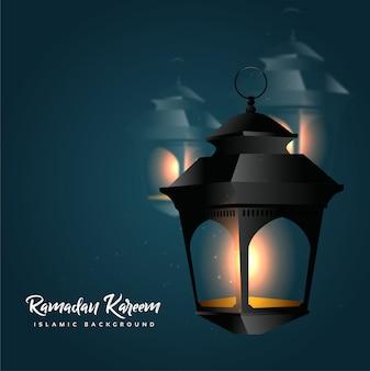 Ramadan kareem with lantern