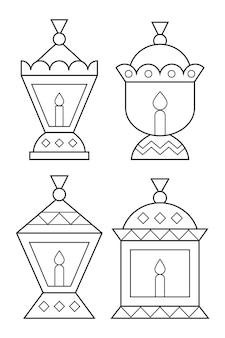 Ramadan lanterns coloring page