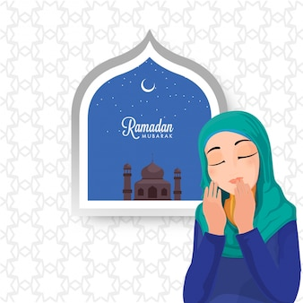 Ramadan mubarak celebration concept