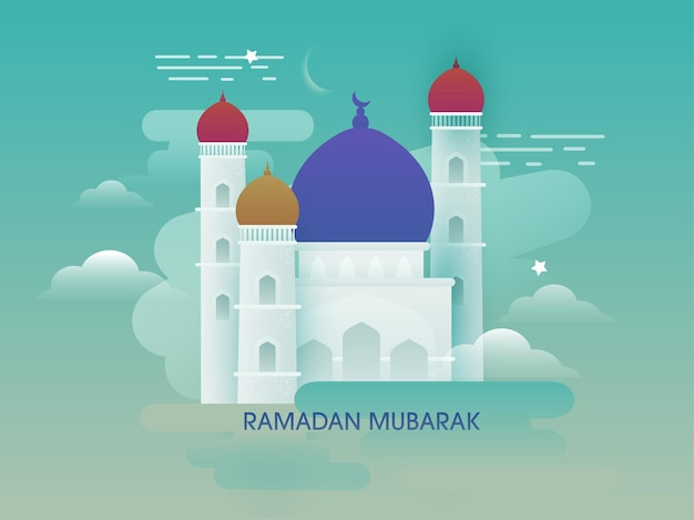 Ramadan mubarak concept illustration