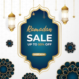Ramadan mubarak super sale discount square banner