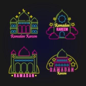 Рамадан неоновая вывеска