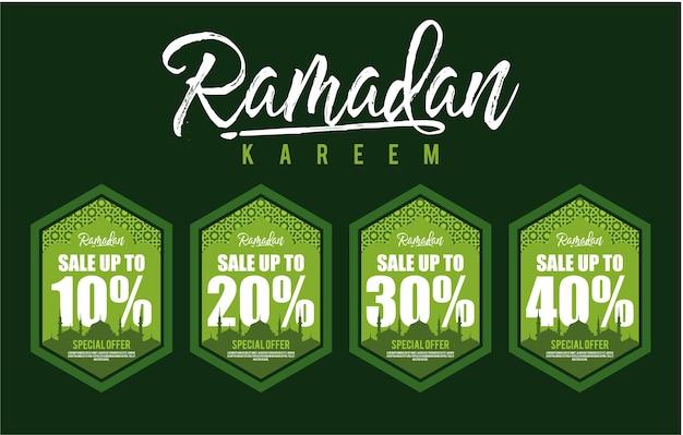 Ramadan sale badges